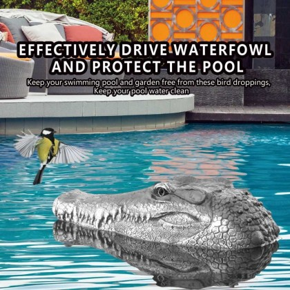 Flytec V005 RC Boat 2.4G Remote Control Electric Racing Boat for Pools with Simulation Crocodile Head Spoof Toy (Standard)