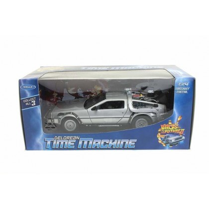 Welly Delorean Time Machine Back to The Future II MJ22499-1//24 Scale Diecast Model Toy Car